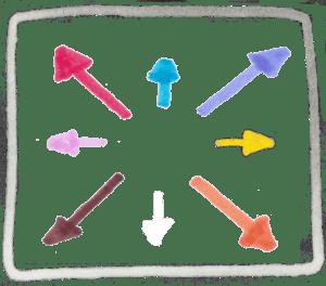 Flèches vers l'extérieur pictogramme